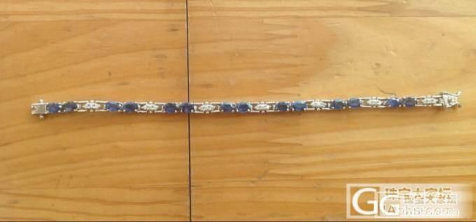 蓝宝石手链,海洋蓝色宝石级锆石手链_名贵宝石