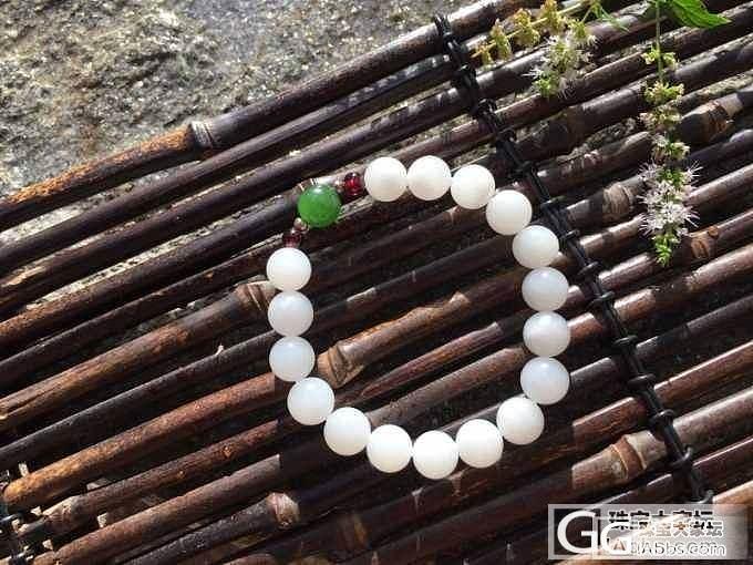 和田玉手链 白玉9.5珠