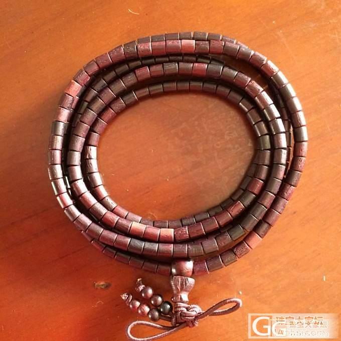 转让闲置的小叶紫檀顺纹3.5规格桶珠216佛珠。_珠宝