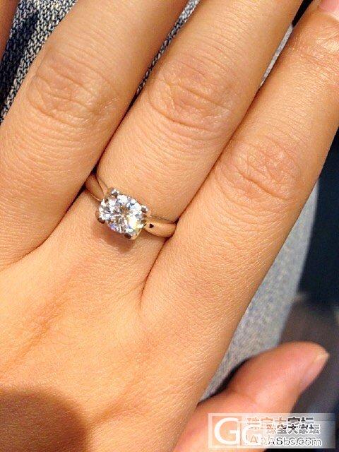 刚拿到我的,虽然不大,但是很漂亮,我..._钻石