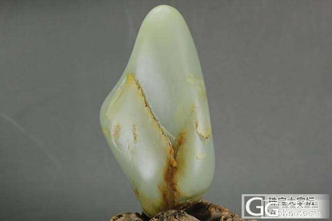 [一品缘玉]355克肉质细腻青白玉籽..._传统玉石