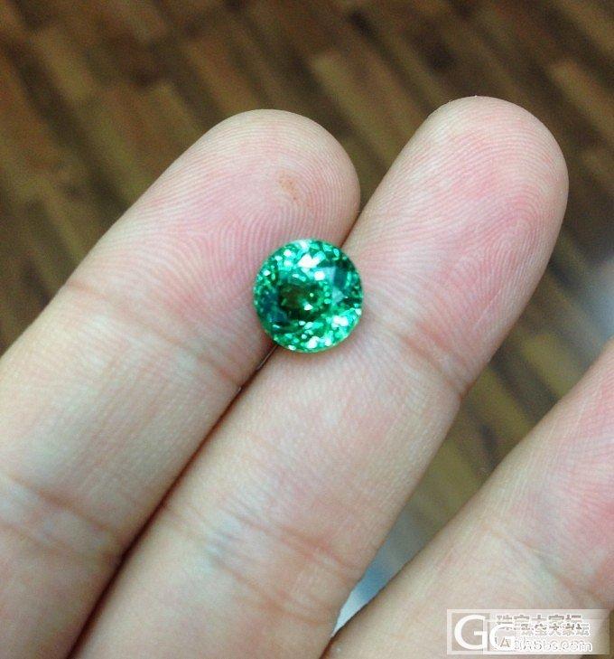 纳米比亚翠榴的色与火!补充第一颗切割..._石榴石刻面宝石