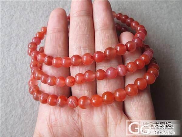 南红手链 108珠子5.5mm—6.5mm  39.9g,150元_传统玉石