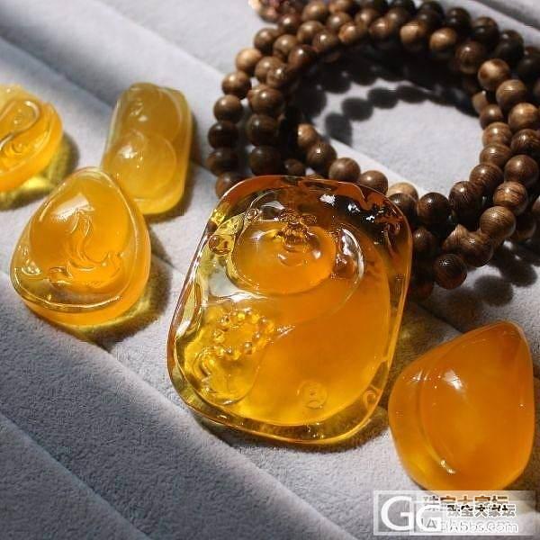 【辰妈】鉴赏!漂亮的鸡油黄蜜蜡、蜜糖料宝贝们_蜜蜡
