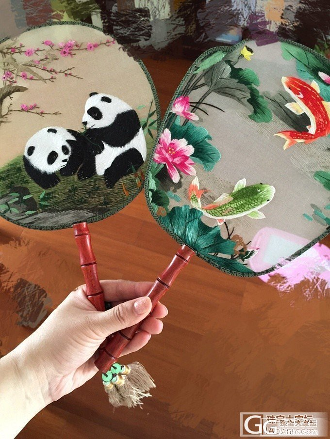 高性价比的纯手工双面刺绣苏绣团扇……浓浓中国风_工艺品刺绣