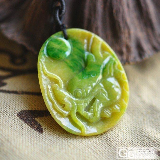 【龙珠】天然缅甸老坑翡翠黄加绿龙头宝珠吊坠搭配青金石链飘阳绿_小凤眼菩提