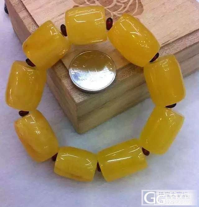 蜜蜡18MM桶珠土豪精品九颗,原矿无优化无烤色,完美鸡油黄,长长久久。_有机宝石