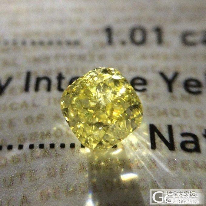 【GIA黄钻现货】 1.01ct Fancy Intense Yellow VS1 VGVG N_千寻珠宝