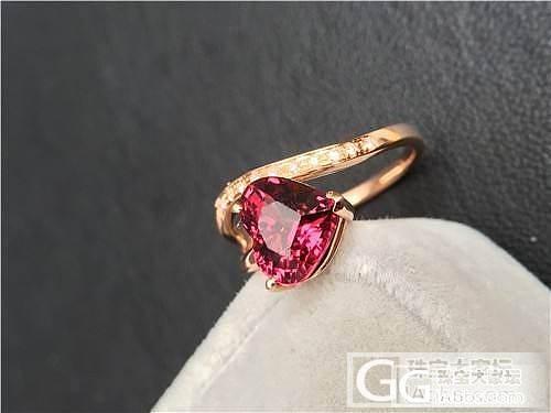 美美的心型石榴石戒指_宝石