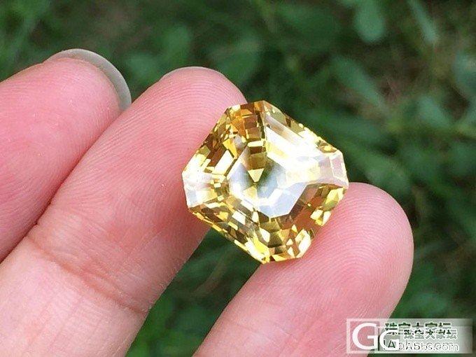 【蓝宝石】极品17克拉无烧黄色蓝宝石,极品中的极品_上海皇家蓝彩宝