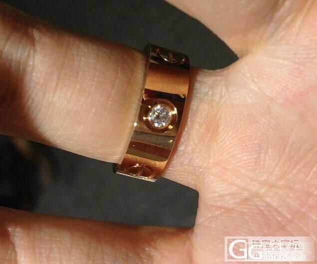 晒一个刚订做的卡家3钻戒指