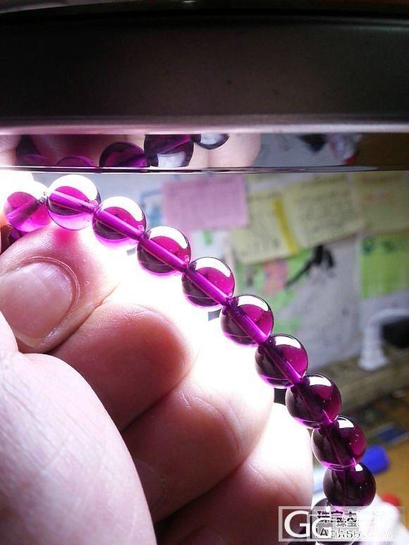 终于等到你---美丽的大紫牙乌_珠串石榴石