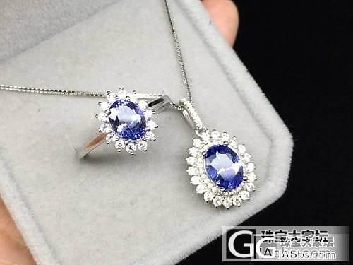 【禅心家-坦桑石】925银镶坦桑石套装 吊坠 戒指_美玉禅心珠宝