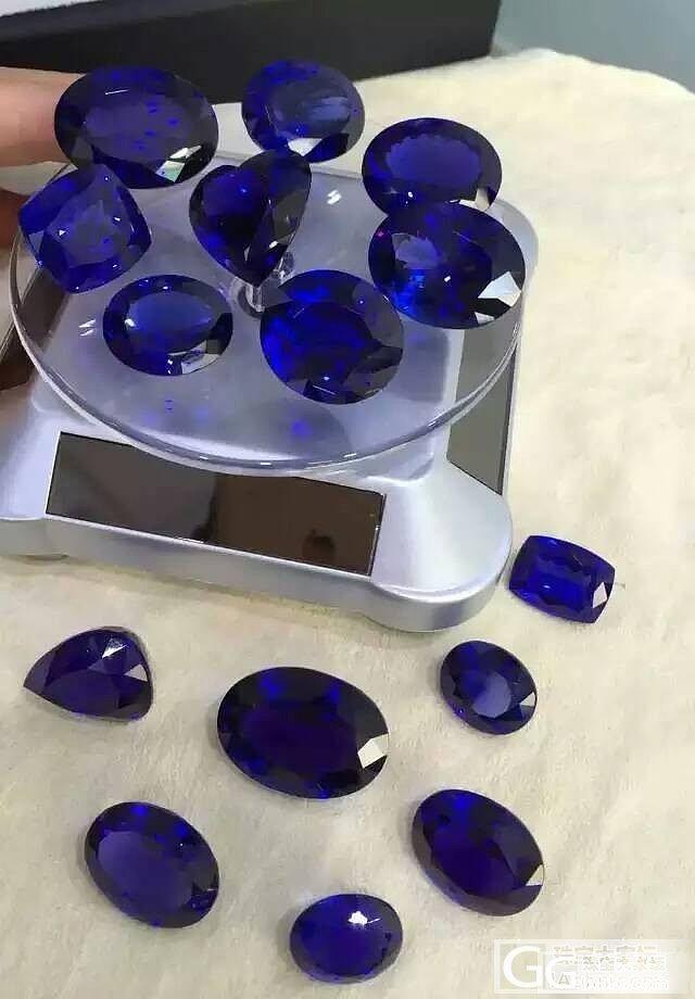 新到坦桑石 颜色好 精品切工 火彩十足 顶级坦桑石 微信15919872739_宝石