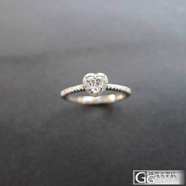 【瑜彩轩】 团购 20分心形钻戒 只要2450_镶嵌珠宝