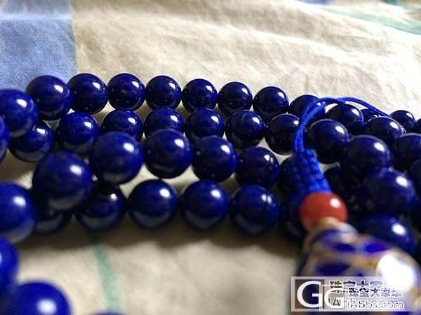 周末DIY,这样搭配的108珠看着也..._青金石珠串