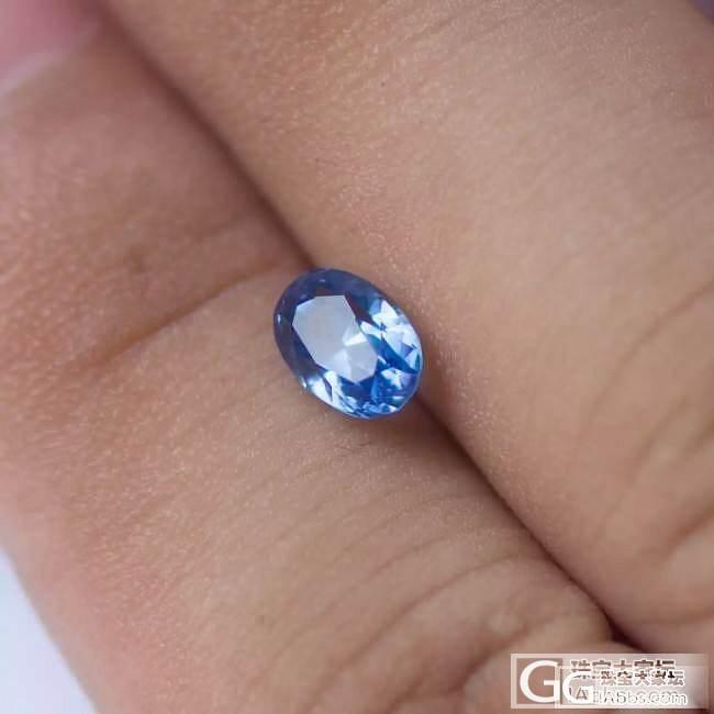 1.44ct 蓝宝石,净度火彩都不错,价格更不错了,只是颜色淡了一些_刻面宝石蓝宝石