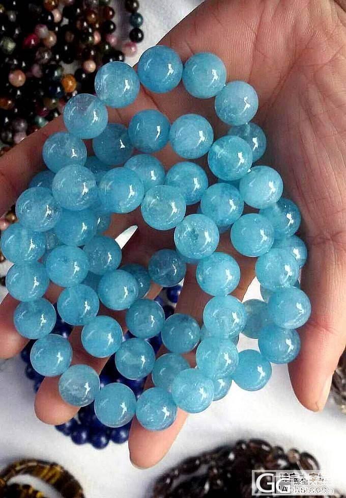 珠大款,天然海蓝宝,蓝色可以,体一般_珠宝