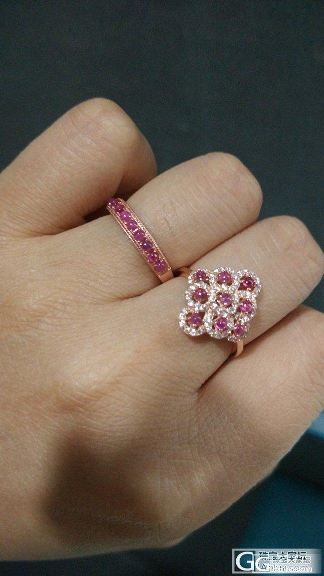新入的两个戒指,都是小石头_戒指蛋面红宝石