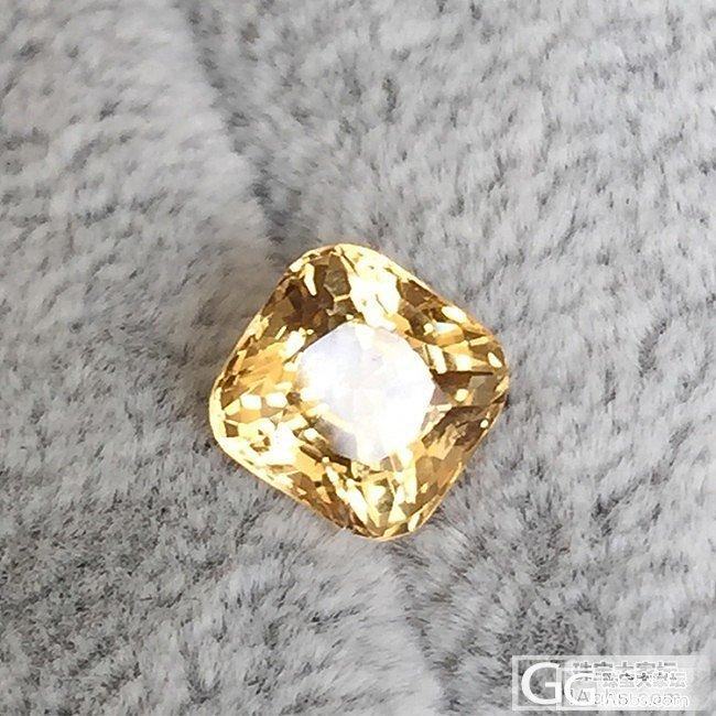 赛黄晶一枚,请大家给科普下!~3Q_赛黄晶刻面宝石