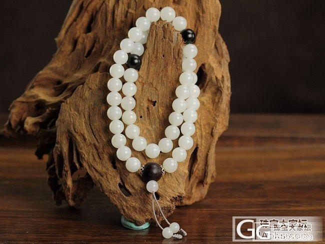 刚刚看到一串很漂亮的珠子~我也要晒我的~_珠串和田玉
