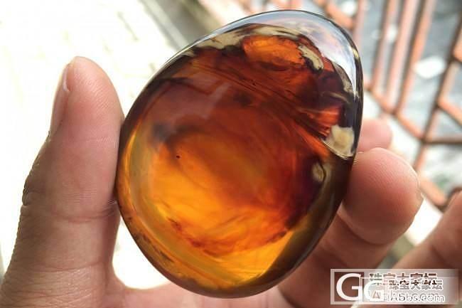 【锦珀网】~缅甸天然琥珀吊坠 金棕珀紫罗兰飘白蜜随形挂件_有机宝石