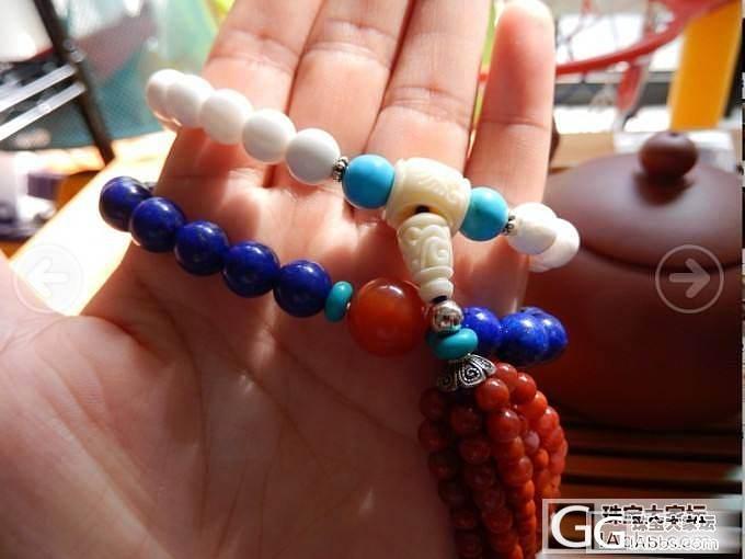 青金石双圈手串,配极少的联合大珠媲美..._青金石