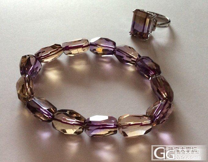 秀秀仅有的两件紫黄晶,戒指是心头爱~_水晶