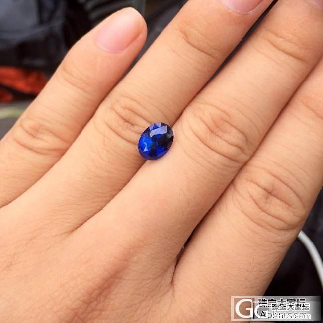 3.52ct皇家蓝蓝宝石,颜色很正吧?一直想入手的,终于拿下了!_刻面宝石蓝宝石