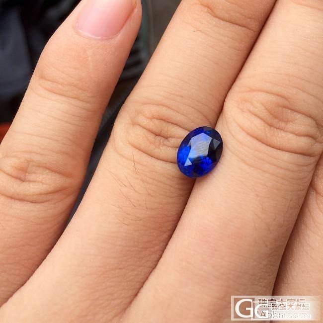 3.52ct皇家蓝蓝宝石,颜色很正吧..._刻面宝石蓝宝石