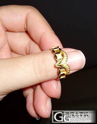 金价给力,老公给买了个周大福的男戒,囧_戒指金