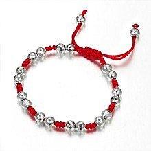 新出的红绳编银手链年度吉祥如意红红火火哦_珠宝