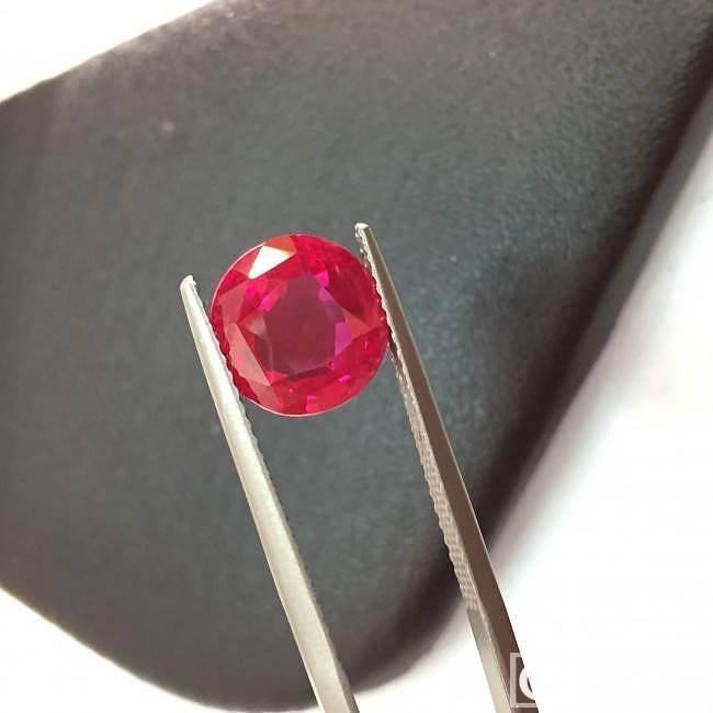 这么美的不多见,缅甸4克拉_刻面宝石红宝石