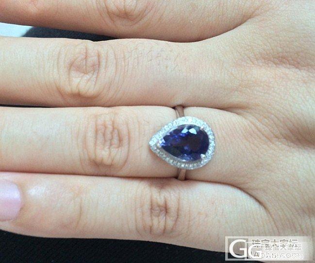 新做的一枚小戒指,好喜欢,大家一定猜..._宝石刻面宝石