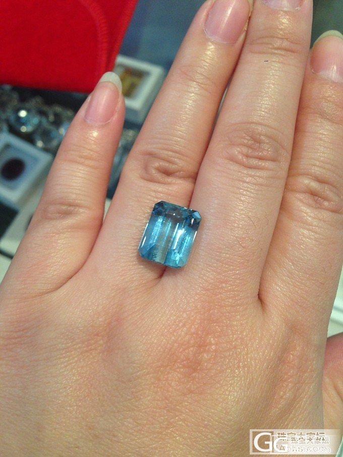 终于找到组织了,巴西几颗海蓝宝,求鉴..._海蓝宝刻面宝石