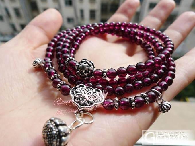 超美枚红色小珠珠多圈手链~泰银的小莲蓬、莲花精秀而婉约,民族风韵味十足哦~_宝石