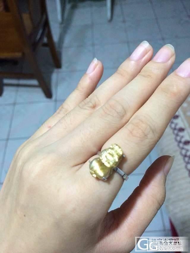 寻的漂亮的钛晶戒面,找人简单镶嵌,忽略我的小粗手_珠串