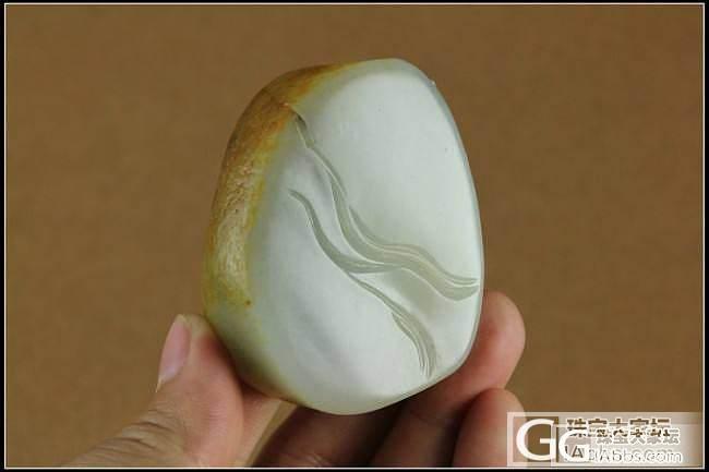 新疆和田玉白玉侍女籽料挂件牌74g  4000元_传统玉石