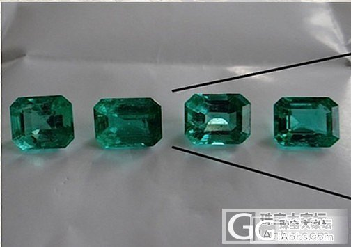 四颗祖母绿_刻面宝石祖母绿