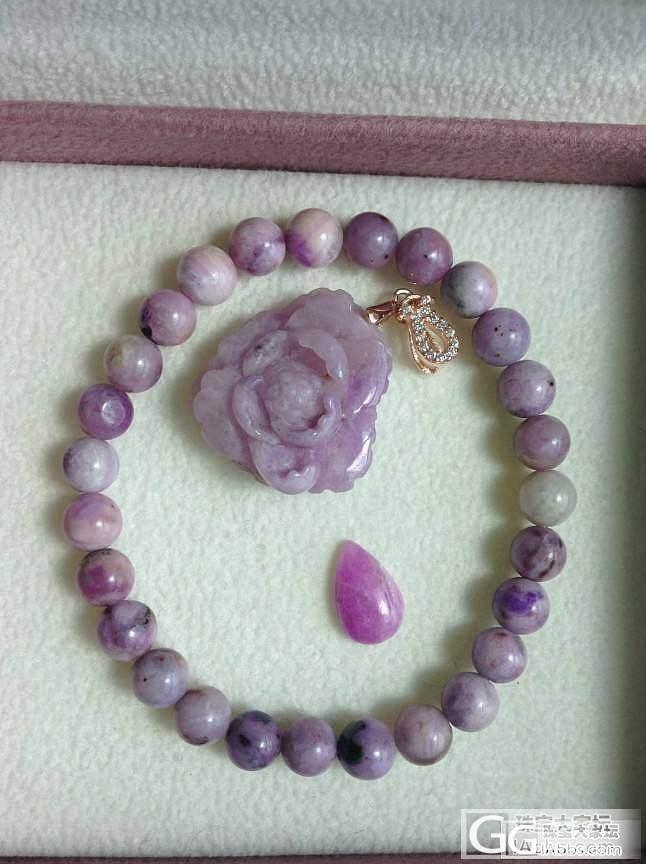 转一套淡粉紫色舒俱来手链 吊坠_宝石