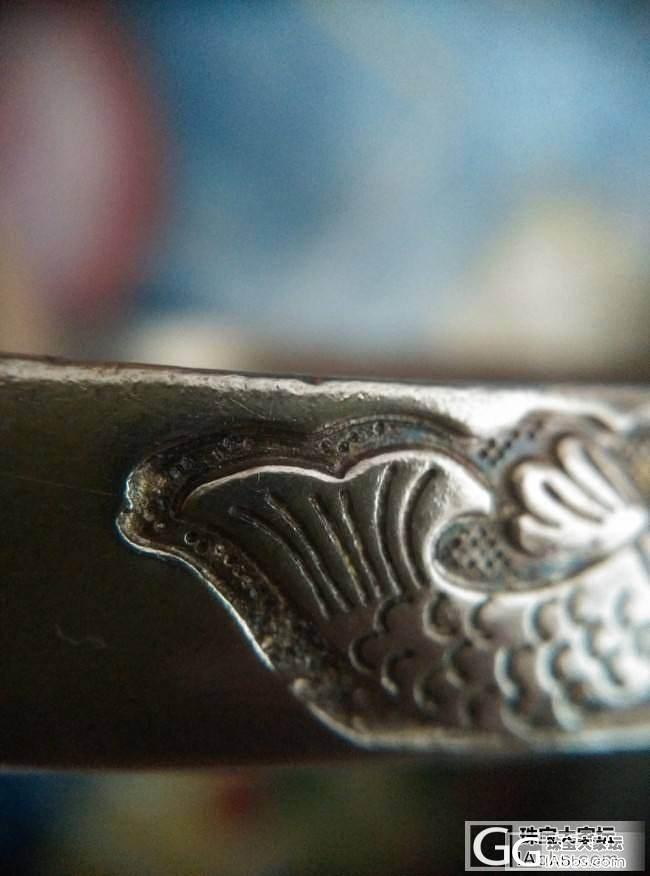 有些年头的银镯子,不知道是不是老银~拍了细节图大家帮看看是不是手工呢~_手镯银