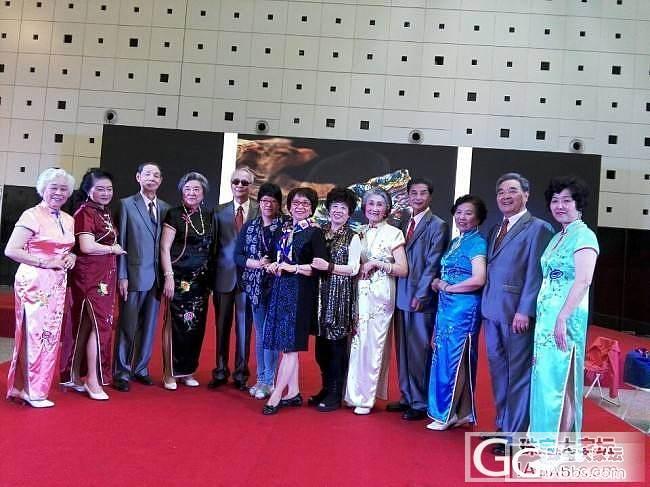今天在上海珠宝展上外婆外公们的展示,上图_展会闲聊