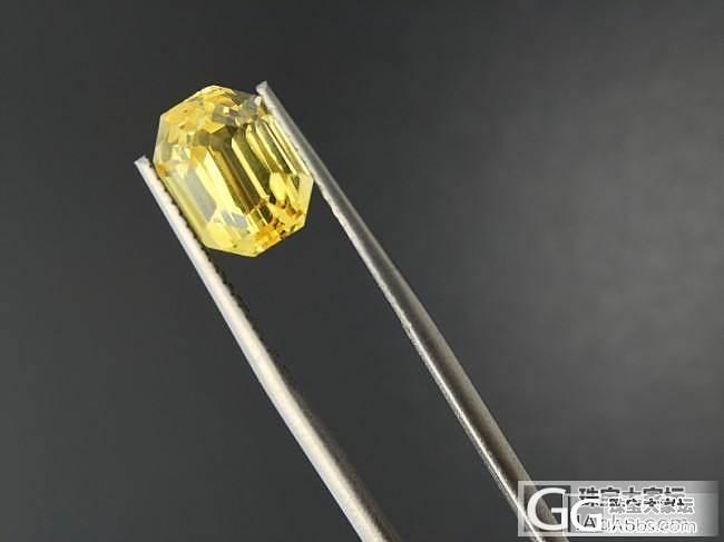 初次发帖:收了一颗黄色蓝宝石,请大家..._刻面宝石蓝宝石