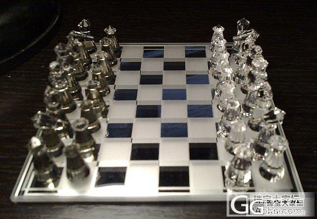 N多年前在新西兰买的水晶棋_水晶