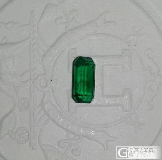 除了红宝,今天还买了一颗祖母绿_刻面宝石祖母绿