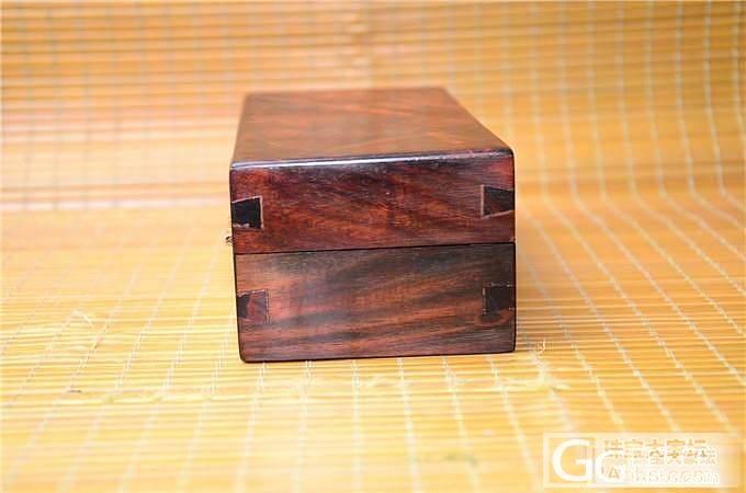 老红木水波纹盒子 文盒 储物盒(第3..._文玩