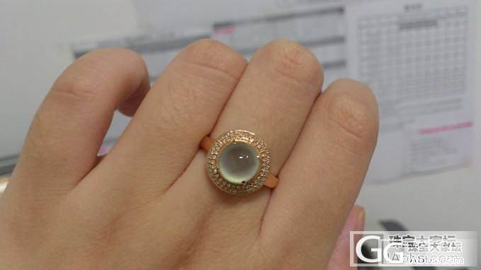 18K玫瑰金镶嵌飘花玻璃种翡翠双围钻款戒指、周生生环球系列日本KT_金