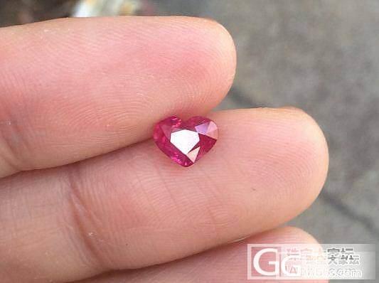 1.04克拉心形红宝石,无烧,特价4599米整颗!漂亮_宝石