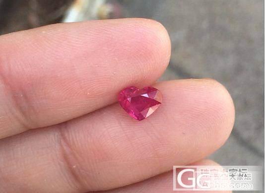 1.04克拉心形红宝石,无烧,特价4..._宝石