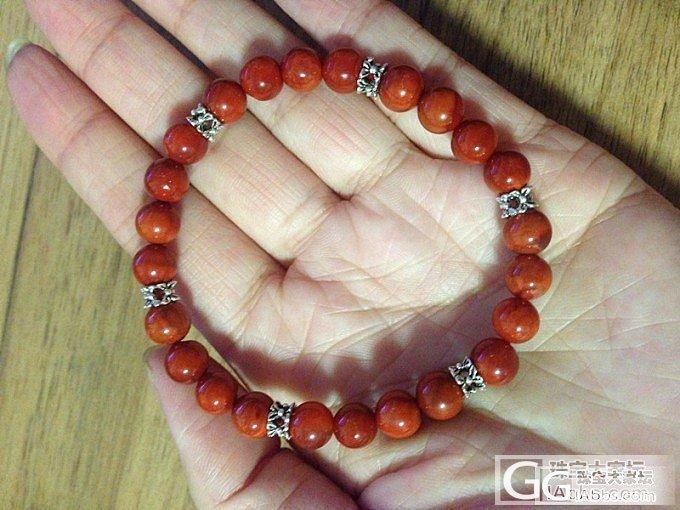 美美的火焰红南红手链和青金石手链,还有全新的星月菩提~请大家捧场啊~_传统玉石